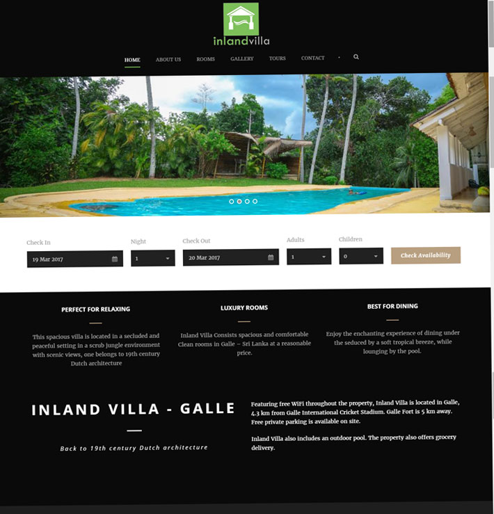 Inland Villa
